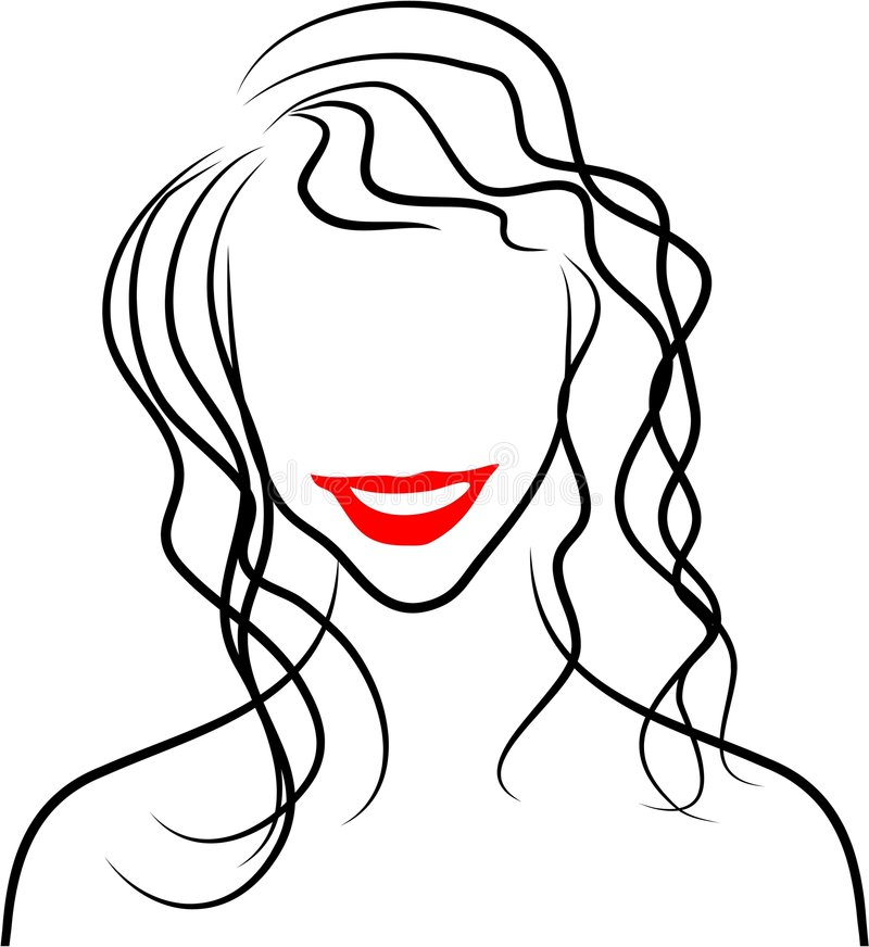 Download Line Lady stock vector. Illustration of lips, elegance, lady - 84927