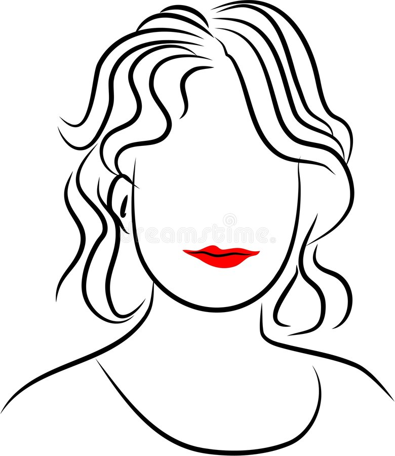Download Line Lady stock vector. Image of beauty, artistic, pretty - 84930