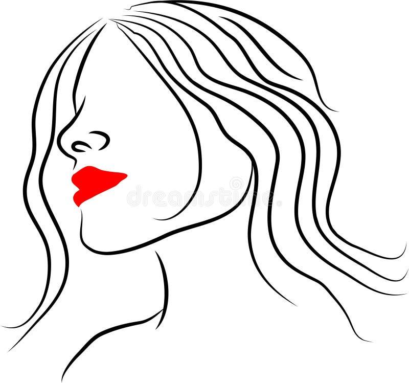 Line Lady vector illustration