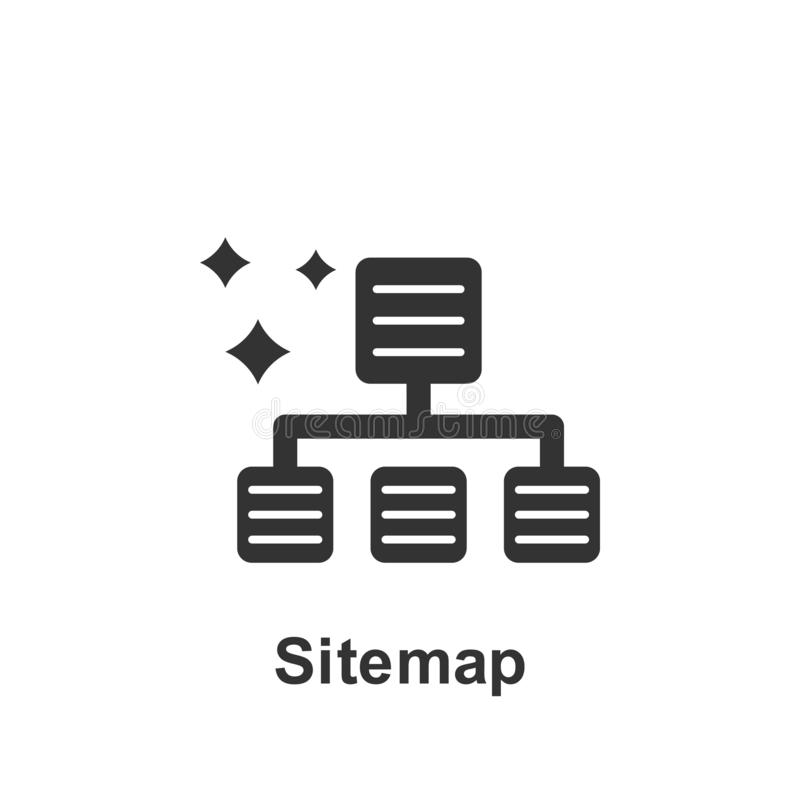 On-line-Marketing, sitemap Ikone Element der vermarktenden on-line-Ikone Erstklassige Qualit?tsgrafikdesignikone Zeichen und Symb vektor abbildung