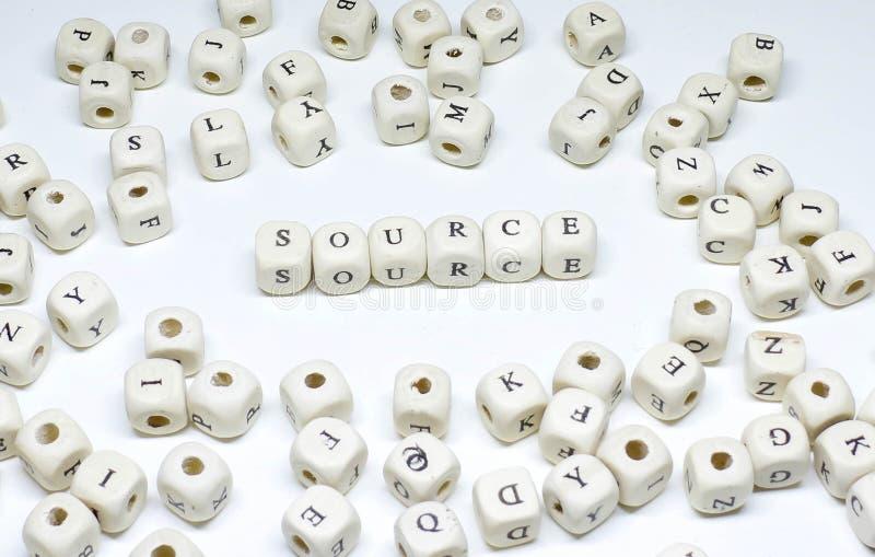On-line-Marketingbegriff auf hölzerner ABC-Quelle des weißen Hintergrundes stockbild