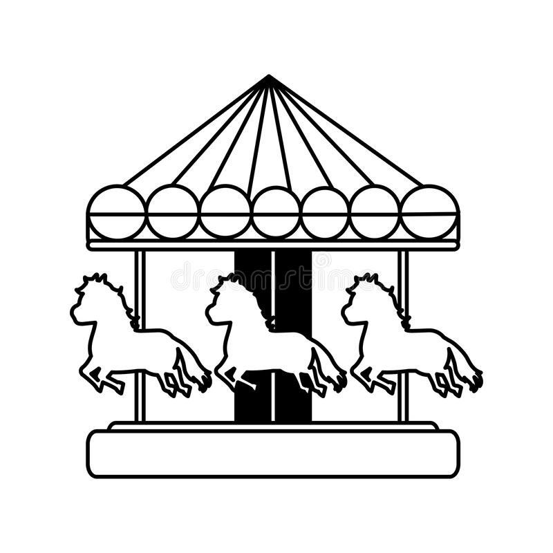 Free Line Mechanical Horse Ride Carnival Game Royalty Free Stock Image - 125565296