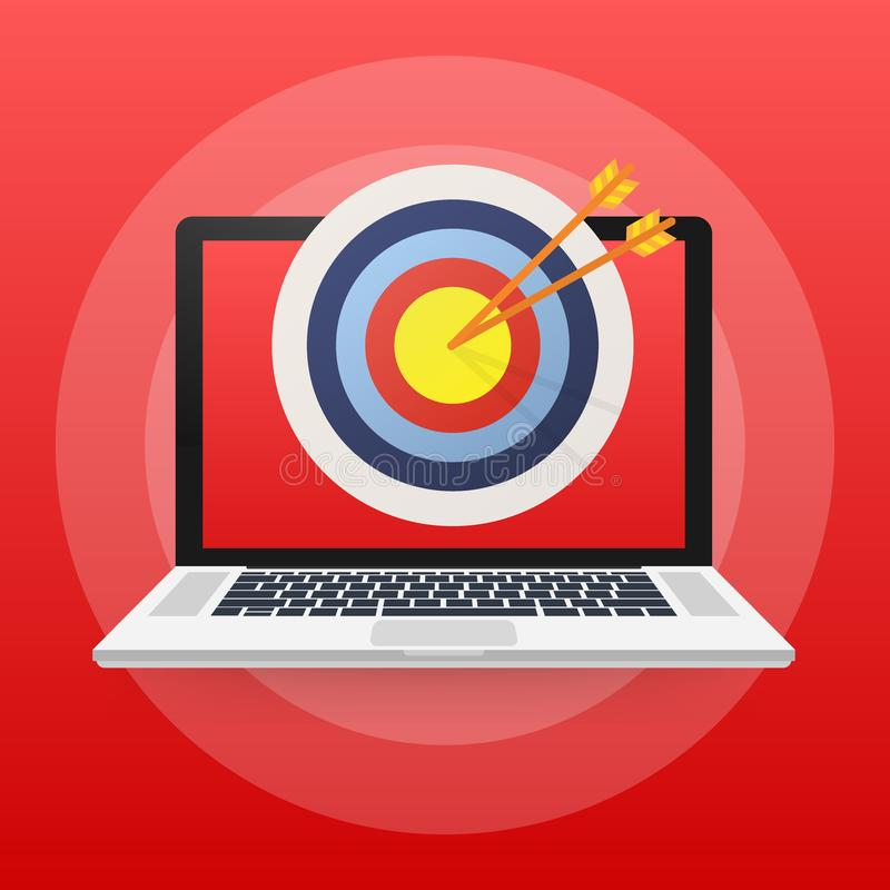 On-line-Medien, Zielgruppe, digitales Marketing Auch im corel abgehobenen Betrag vektor abbildung