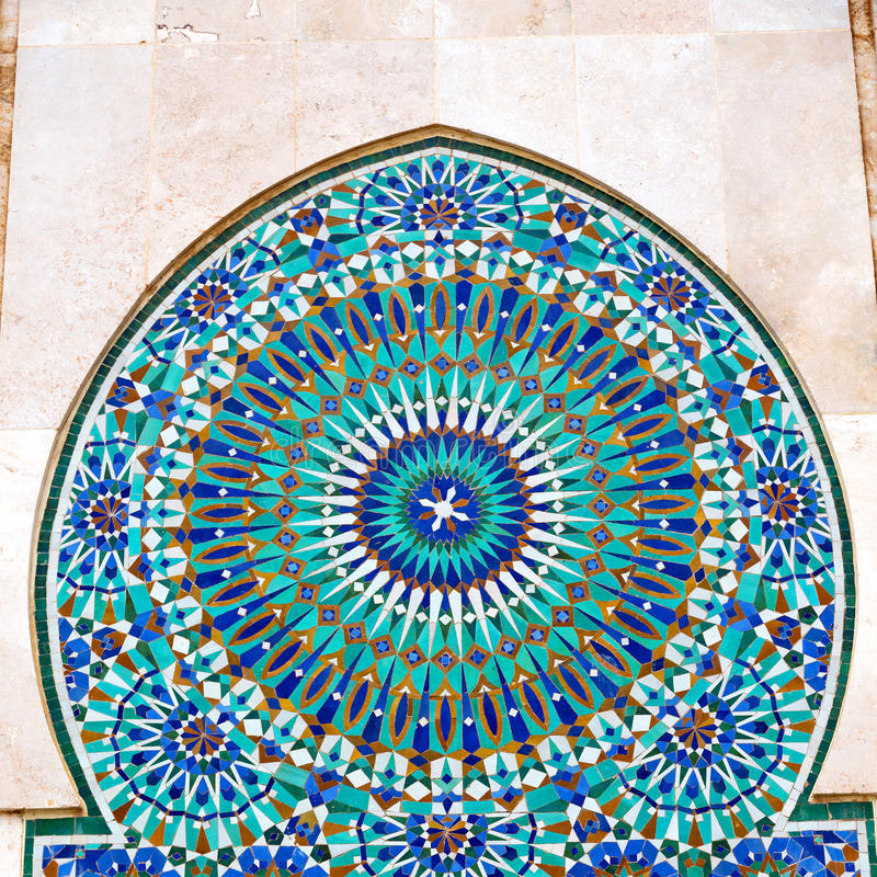 Line in morocco africa old tile and colorated floor ceramic abst. Ract stock images