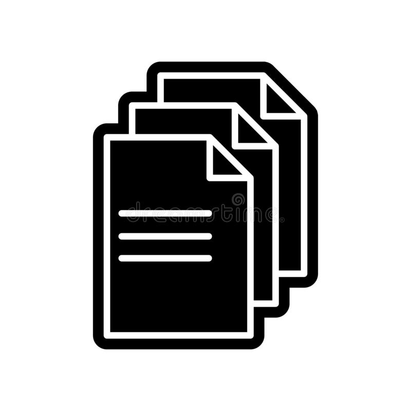Line note paper icon. Element of Finance for mobile concept and web apps icon. Glyph, flat icon for website design and development. App development on white royalty free illustration