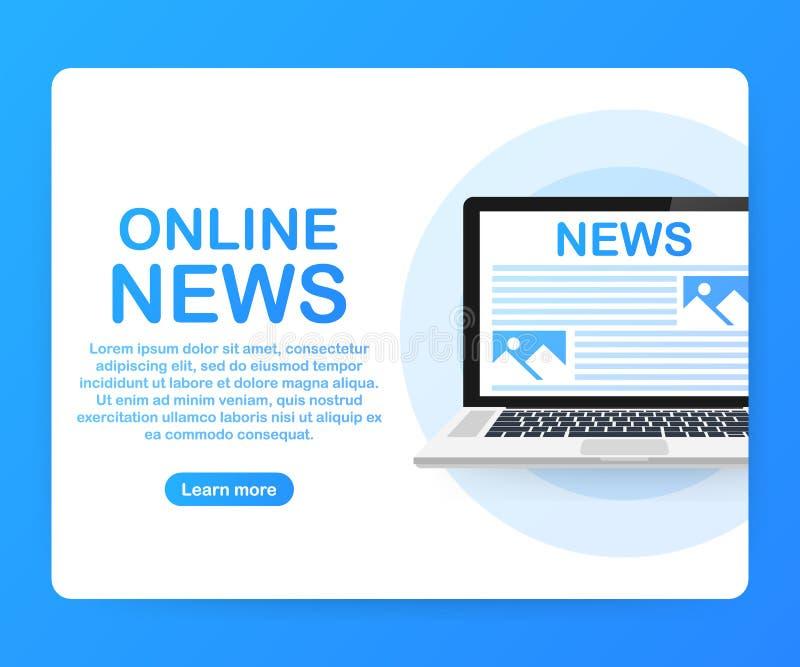 On-line nyheterna Informationsblad och information Affärs- och marknadsnyheterna bakgrund diagrams finansiell white för oerpennra stock illustrationer