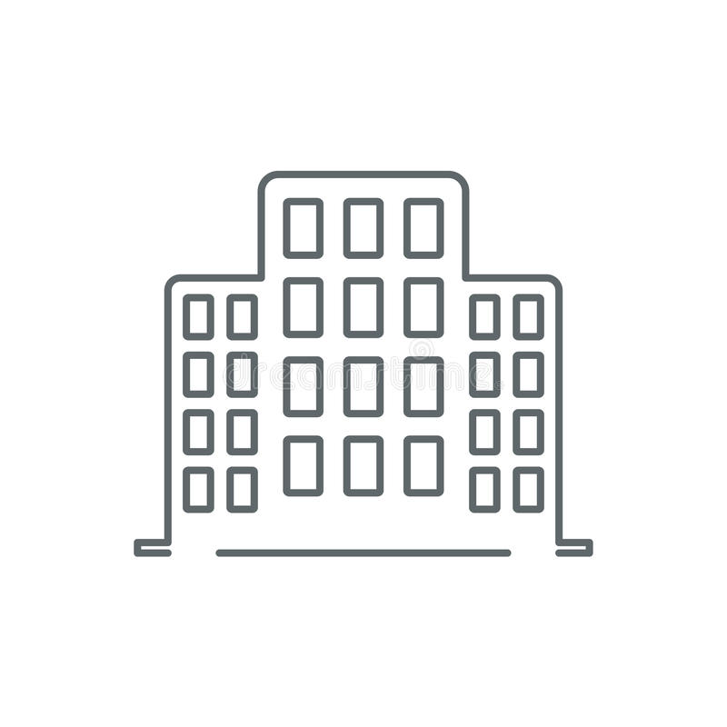 Line office building icon vector illustration