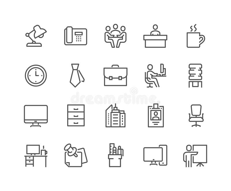 Line Office Icons vector illustration