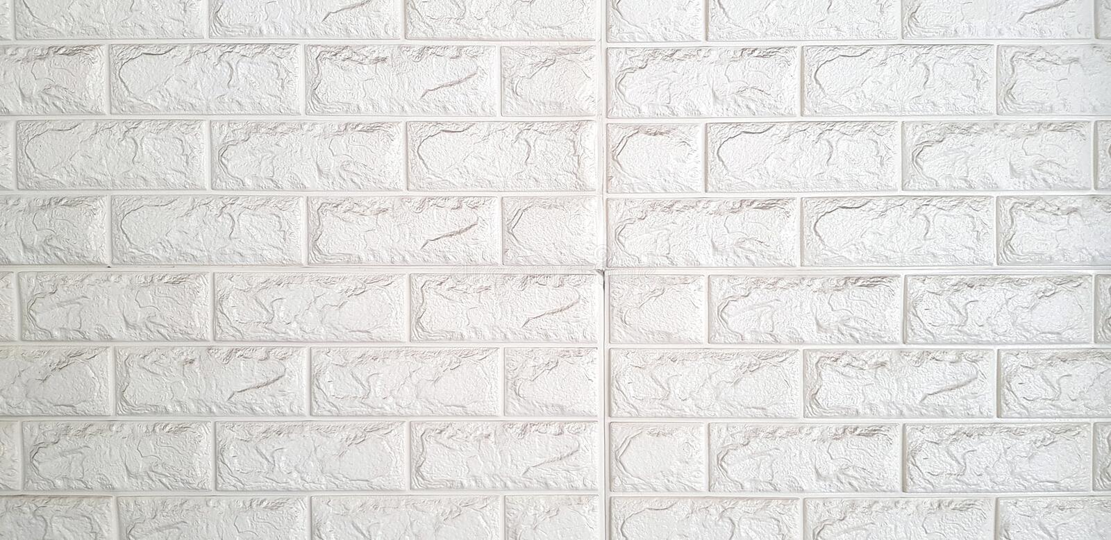 Line pattern of white ceramic wall for background or wallpaper.Design and Decoration structure royalty free stock photos