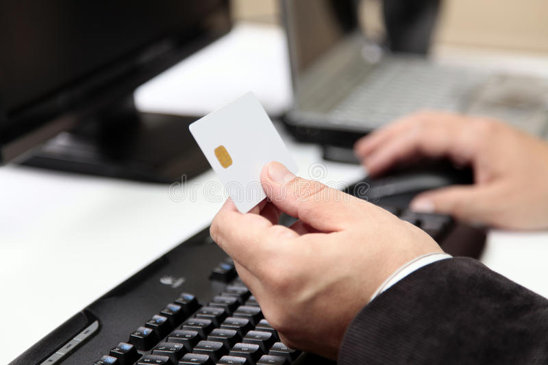 On-line Payment. E-commerce Stock Photo