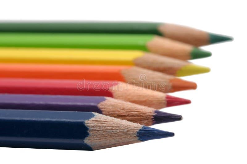 Line of pencils stock image