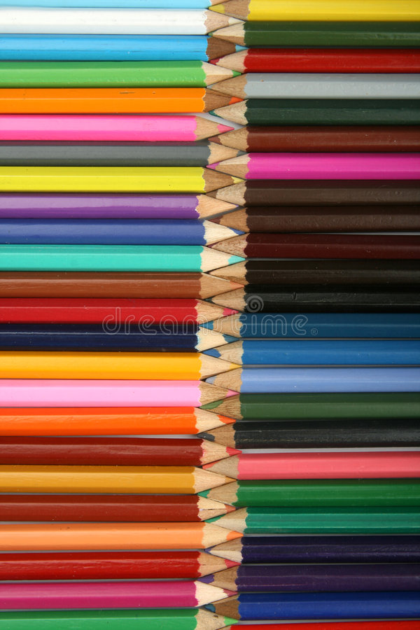 Line of pencils royalty free stock photos