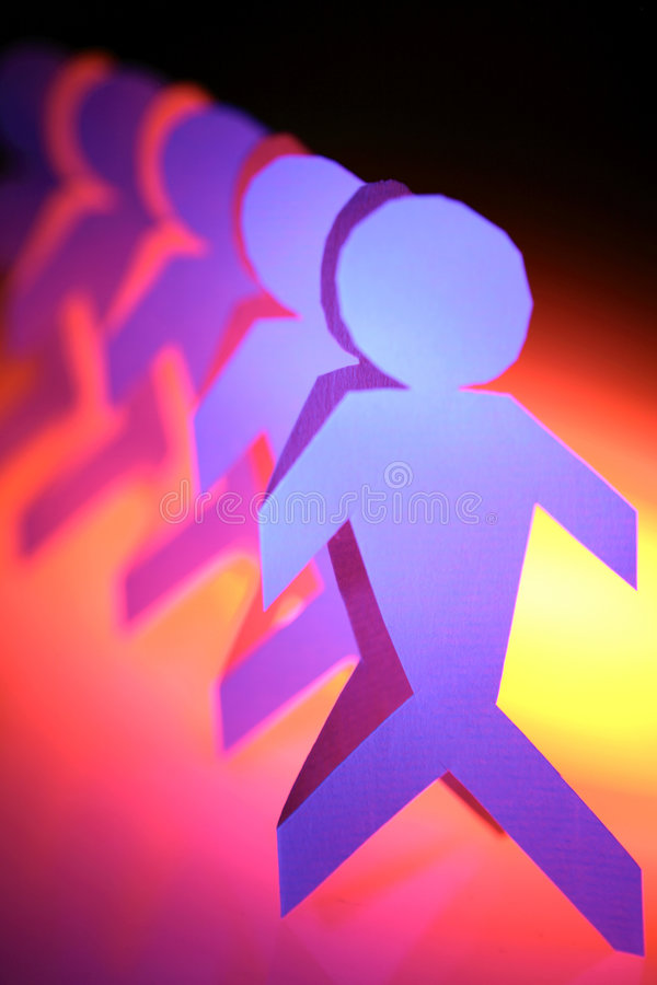 Line of people royalty free stock image