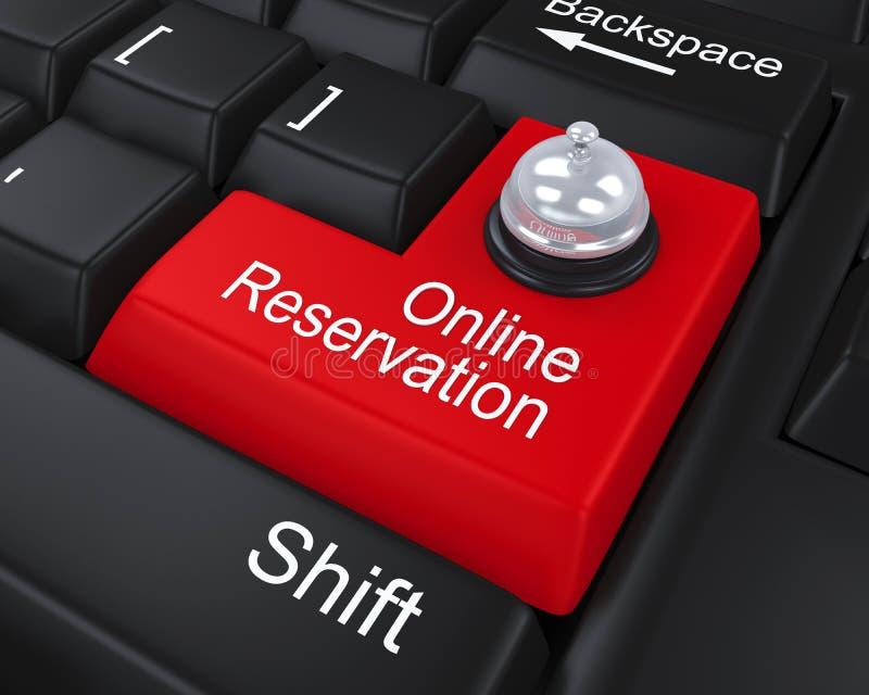 On-line-Reservierung ENTER-Taste lizenzfreie abbildung