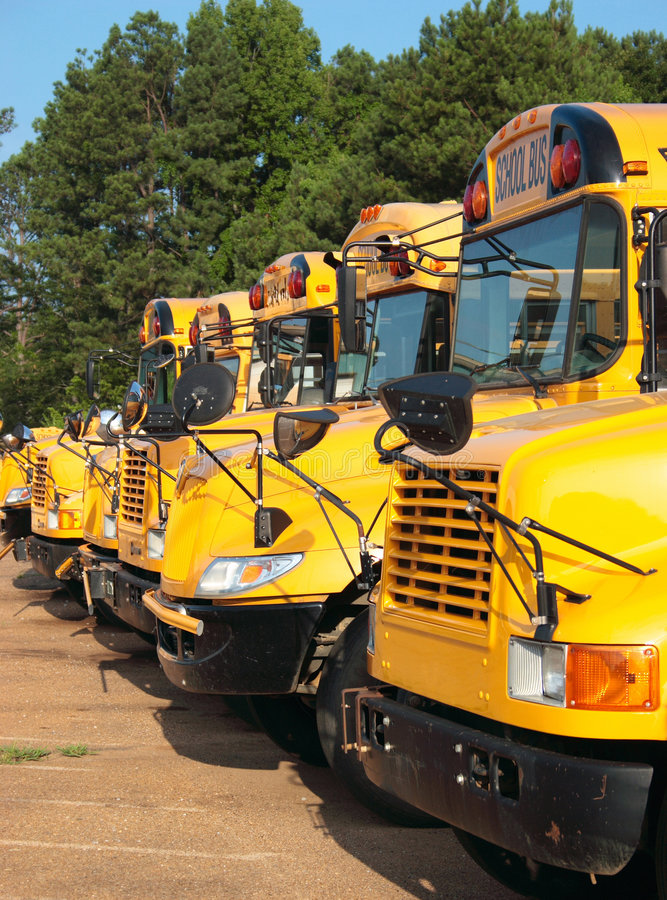 Download Line of School Buses stock photo. Image of education, ride - 2715170