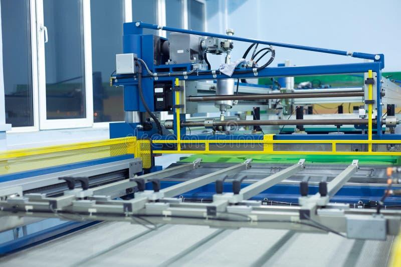 Download Line Screen Printing Machine Stock Image - Image: 33576675