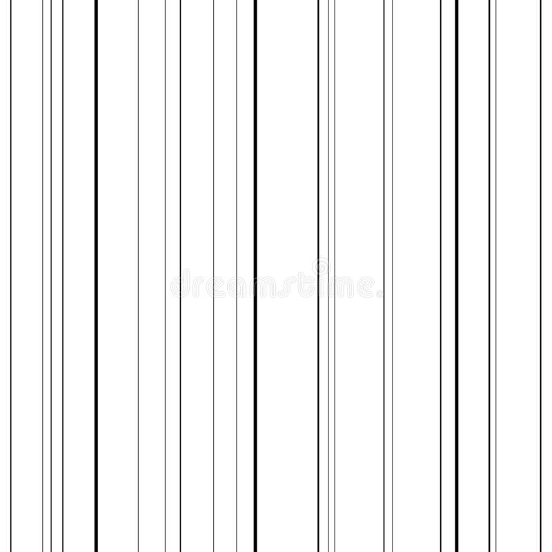 Line seamless pattern. Black lines on white background. Abstract stripes, geometric modern design. Simple repeat. Ornament. Design wallpaper textile, fabric vector illustration