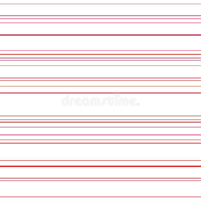 Line seamless pattern. Red lines on white background. Abstract stripes, geometric modern design. Simple repeat ornament royalty free illustration