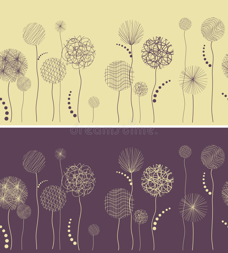 Free Line Seamless With Fantastic Flowers Stock Image - 20559711