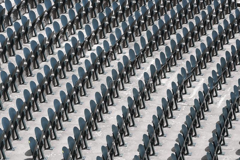 Line of seats in a stadium.  royalty free stock photo