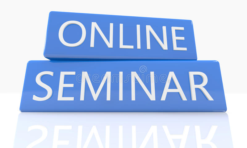 On-line-Seminar stock abbildung