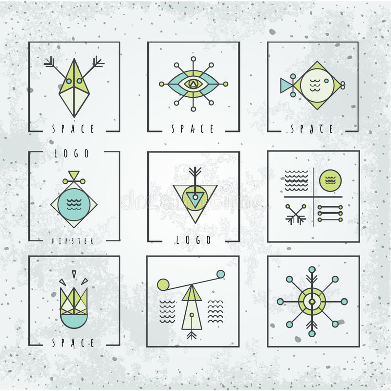 Line shapes geometry. polygon style with geometric shapes. stock illustration