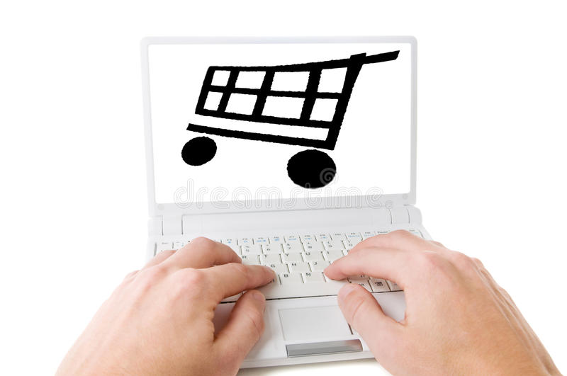 On-line Shoping Stock Photos