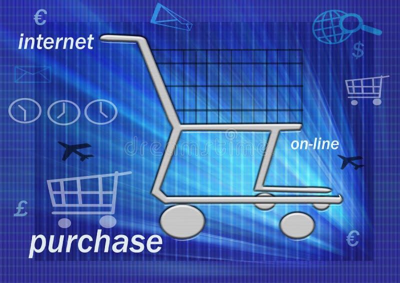 On line shopping stock illustration