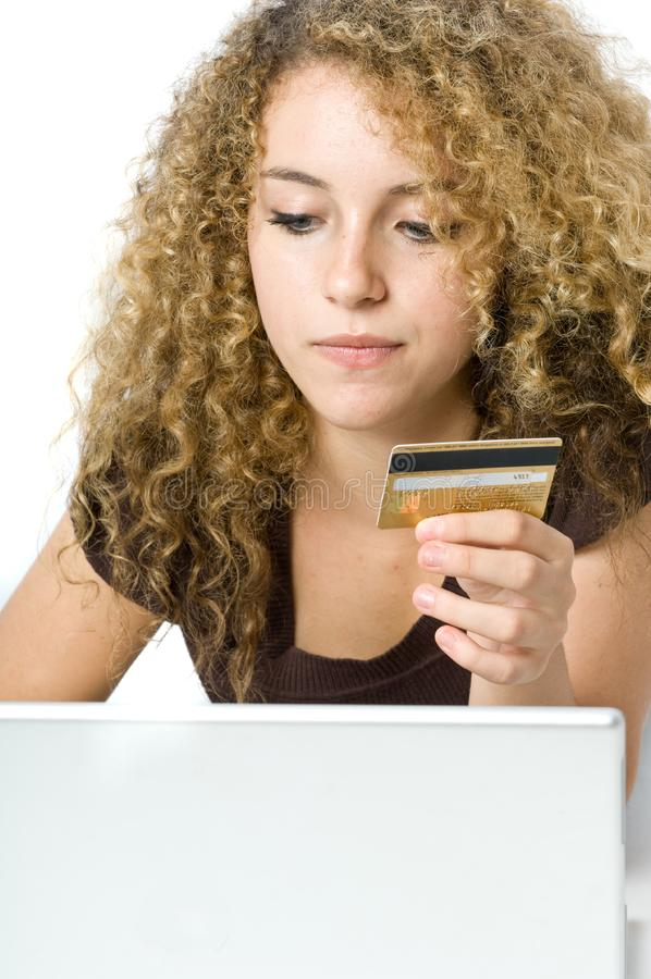 On-line shopping arkivfoton