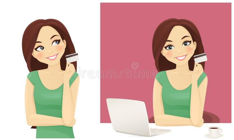 On line shopping royalty free illustration