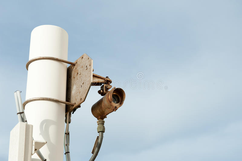 Line of sight gas detector front view royalty free stock images