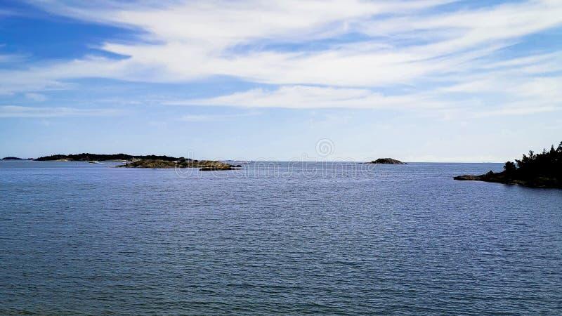 The line between sky and water. Horizon, sea stock photos