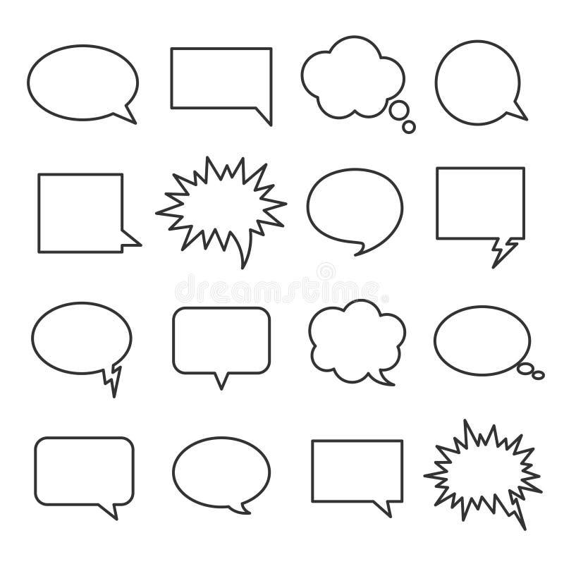 Line speech bubbles stock illustration