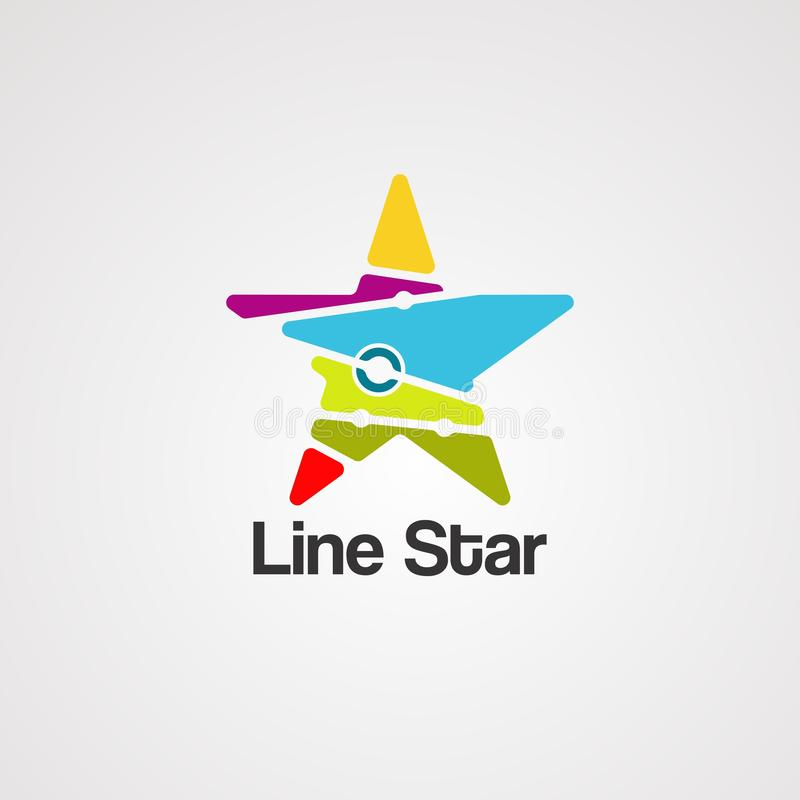 Line star logo vector, icon, element, and template vector illustration