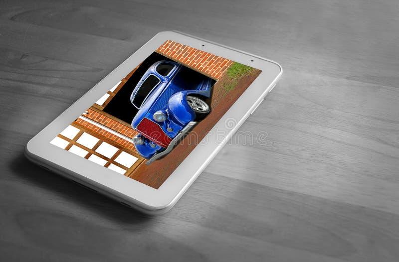On-line-Suche des kundenspezifischen Autos stockbild