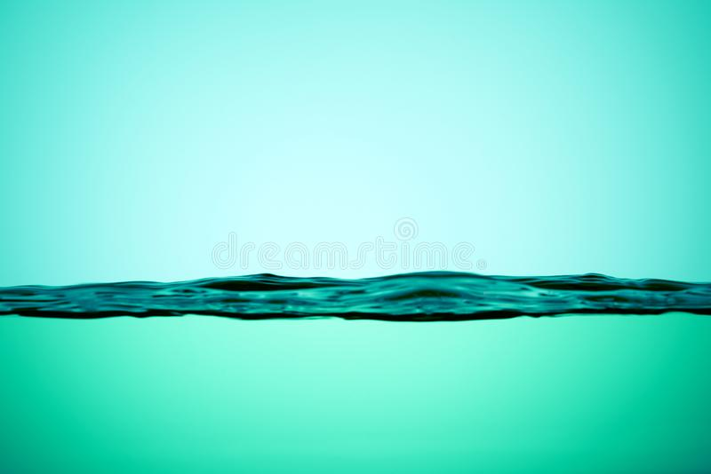 Line the surface of the water in the turquoise color. Color green. Line the surface of the water in the turquoise color. Color the background royalty free stock photos