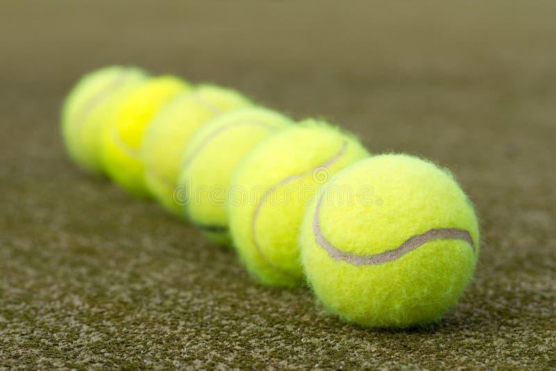 Line Of Tennis Balls Royalty Free Stock Image