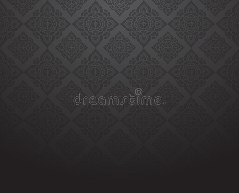 Line Thai, black color tradition abstract background. Vector vector illustration
