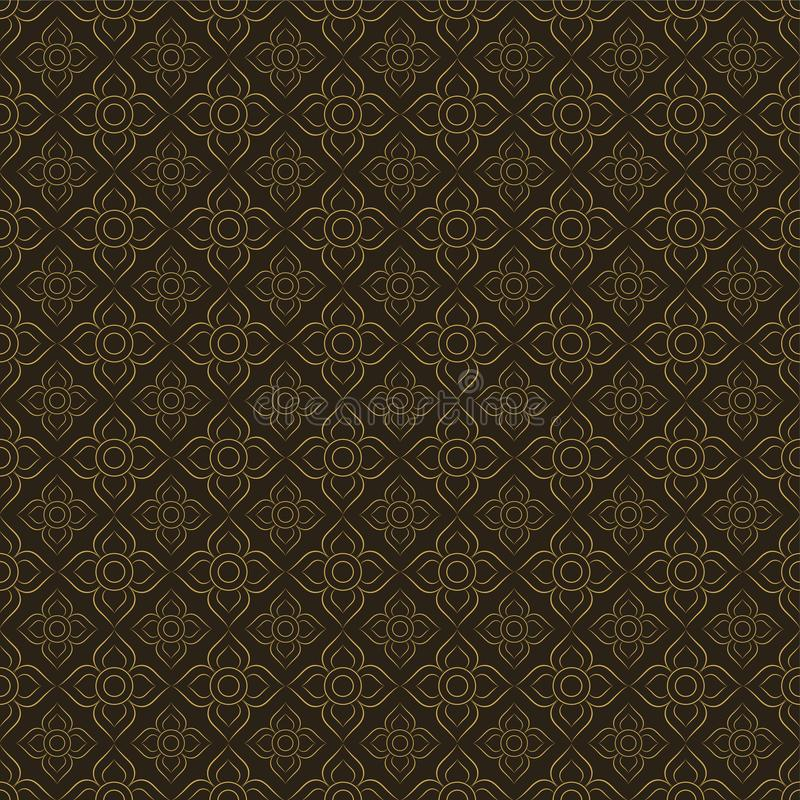 Line Thai.Thai Style Pattern Seamless Background ,Vector illustration royalty free illustration