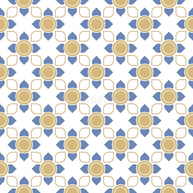 Line thai traditional seamless pattern royalty free illustration
