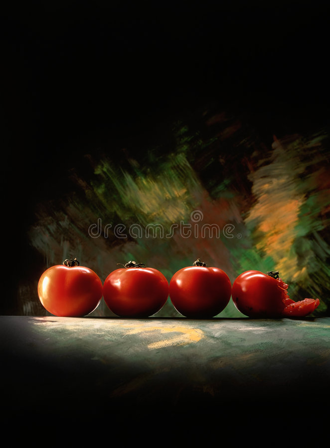Line of tomatoes