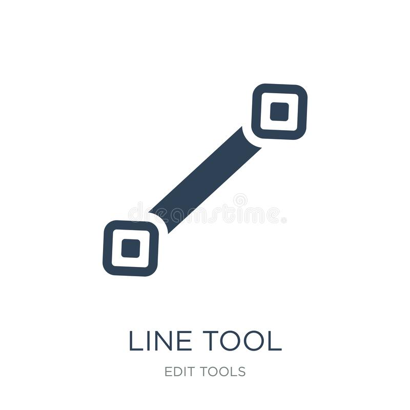 line tool icon in trendy design style. line tool icon isolated on white background. line tool vector icon simple and modern flat stock illustration