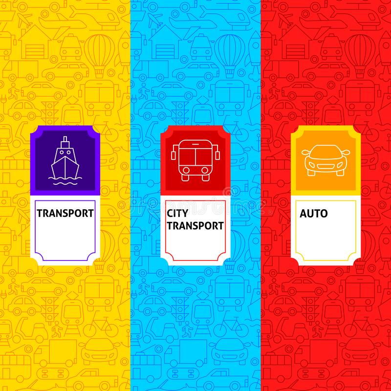 Line Transport Package Labels stock photography