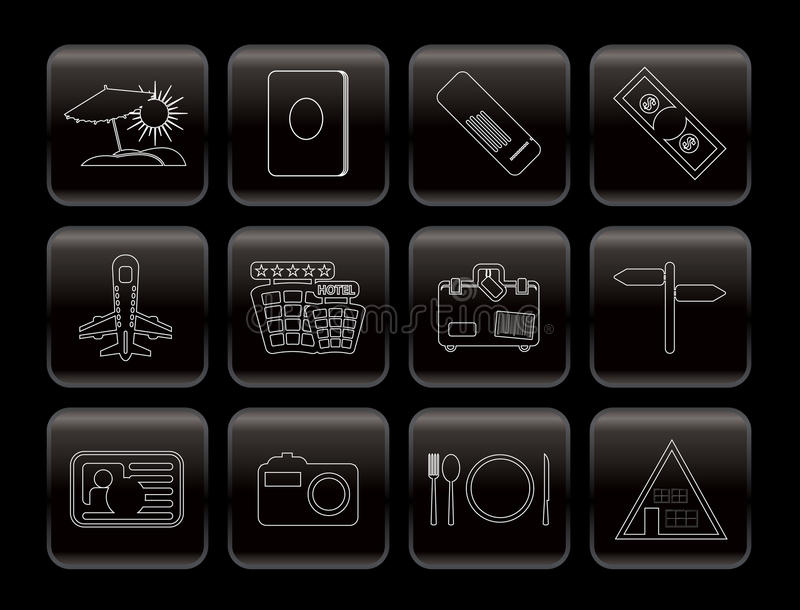 Line Travel And Trip Icons Stock Photo