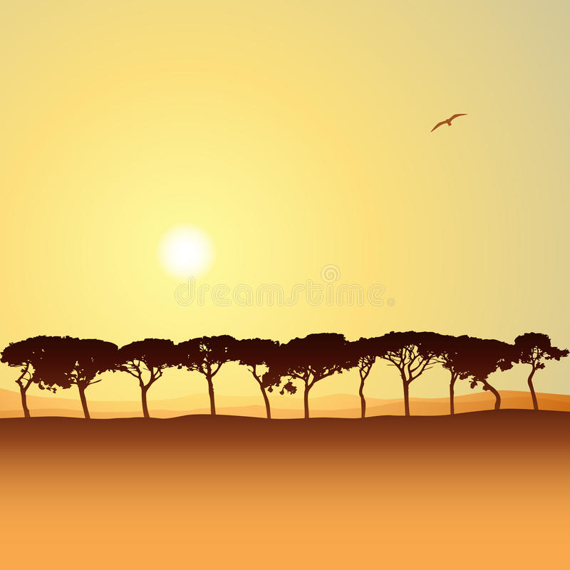 Download Line of Trees stock vector. Image of line, trees, vector - 26444871