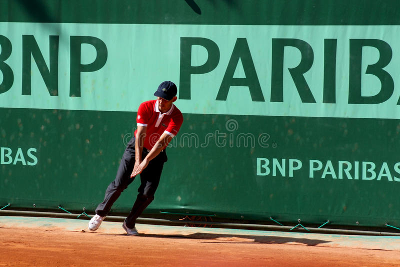 Line umpire at Roland Garros 2011 stock images