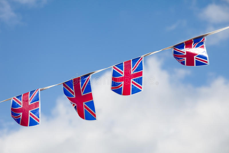 Download Line Of Union Jack Bunting Stock Images - Image: 25419244