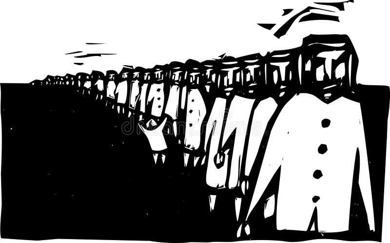 Download Line Up stock vector. Illustration of journey, line, genocide - 25070045