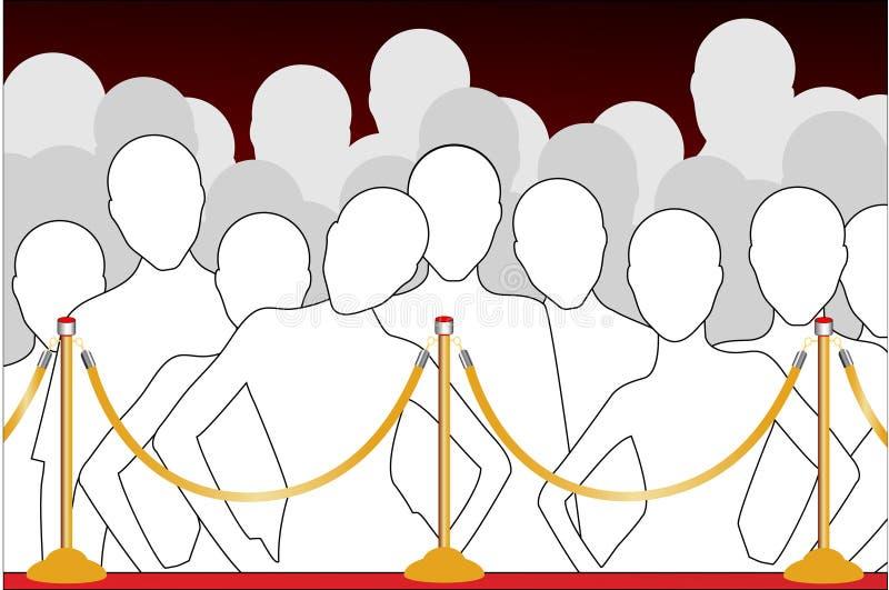 Line up royaltyfri illustrationer