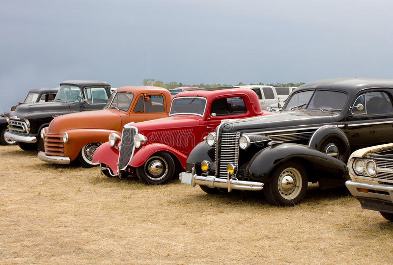 Download Line Up Of Classic Automobiles Streetrods Stock Photo - Image of 1956, lineup: 28501006